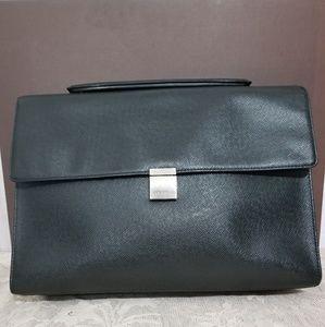 Louis Vuitton Black Taiga Ponte Document Briefcas
